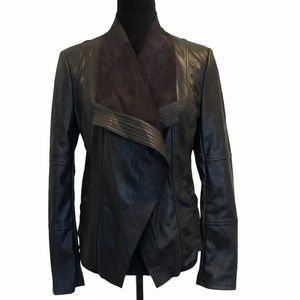 Le Château vegan pleather open front jacket